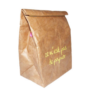 """Lunch bag """"ce n'est pas de papier"""" print"""