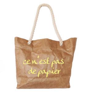 """Rope Handle bag """"ce n'est pas de papier"""" print"""