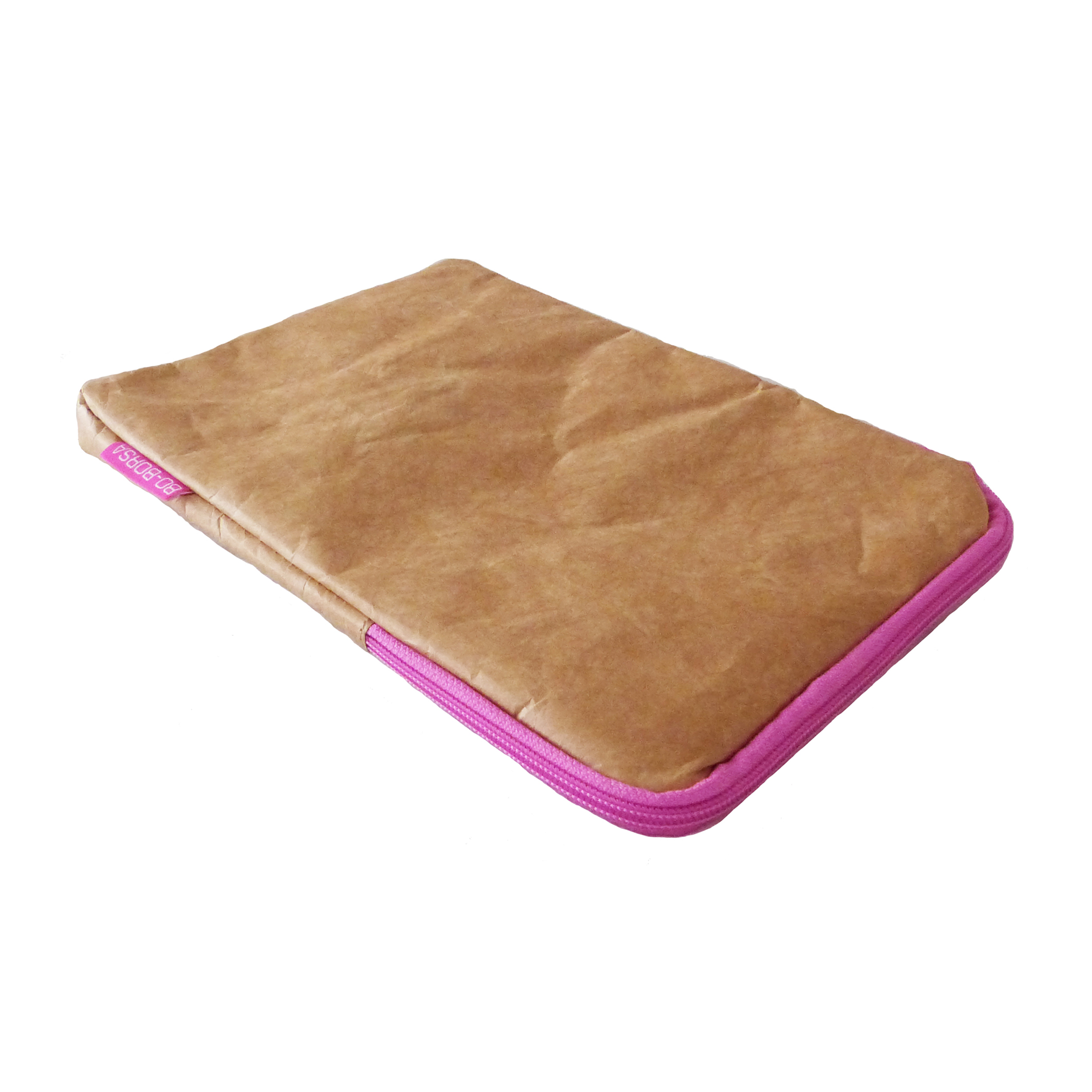 brown tyvek ipad cover pink zip