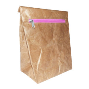 Lunch bag pink zip